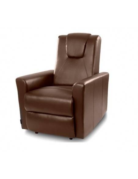 fauteuil relax chauffant massant jack marron. Black Bedroom Furniture Sets. Home Design Ideas