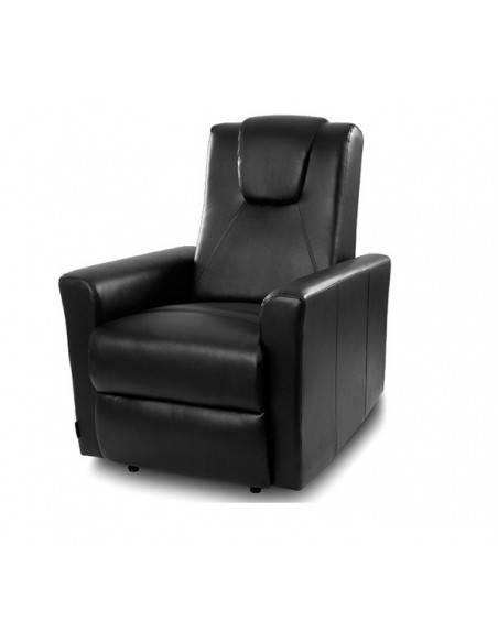 fauteuil relax chauffant massant jack noir. Black Bedroom Furniture Sets. Home Design Ideas